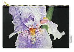 Carry-all Pouch featuring the drawing Tonto Basin Iris by Marna Edwards Flavell