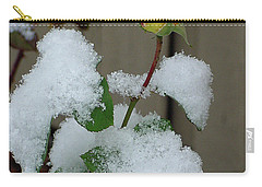 Too Soon Winter - Yellow Rose Carry-all Pouch by Shirley Heyn