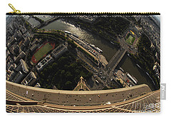 Top Of The Eiffel Tower Carry-all Pouch by Micah May