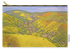 Carry-all Pouch featuring the photograph Top Of The Temblor Range by Marc Crumpler