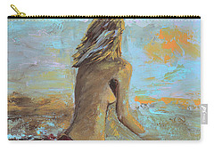 Topless Beach Carry-all Pouch by Donna Blackhall