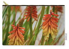 Torch Lily At The Beach Carry-all Pouch by Sandi OReilly