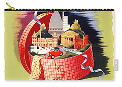 Torino Turin Italy Vintage Travel Poster Restored Carry-all Pouch