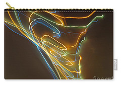 Carry-all Pouch featuring the photograph Tornado Of Lights. Dancing Lights Series by Ausra Huntington nee Paulauskaite