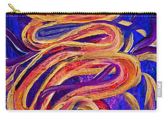 Carry-all Pouch featuring the painting Tornado Swirls by Claire Bull