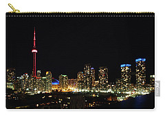 Toronto At Night Carry-all Pouch by David Pantuso