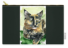 Tortoiseshell Maine Coon Portrait Carry-all Pouch