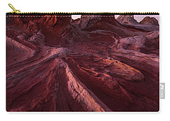 Carry-all Pouch featuring the photograph Tortured Stone by Dustin LeFevre