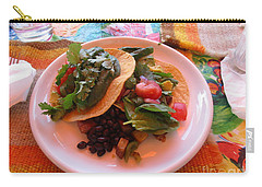 Carry-all Pouch featuring the photograph Tostada Times Two by Marie Neder