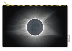 Carry-all Pouch featuring the photograph Total Solar Eclipse With Corona by Lori Coleman