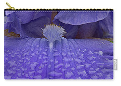Carry-all Pouch featuring the photograph Totally Blue Iris by Jean Noren