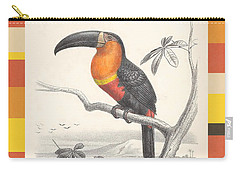 Carry-all Pouch featuring the digital art Toucan Bird Responsible Travel Art by Nola Lee Kelsey