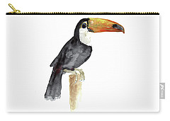 Toucan Watercolor Painting Tropical Bird Kids Playroom Art Prin Carry-all Pouch