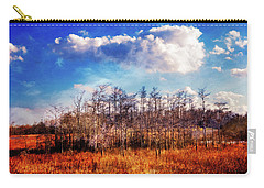 Carry-all Pouch featuring the photograph Touch Of Autumn In The Glades by Debra and Dave Vanderlaan