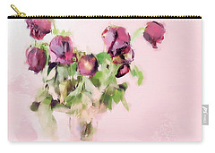 Carry-all Pouch featuring the mixed media Touchable by Betty LaRue