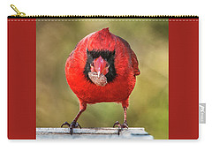 Carry-all Pouch featuring the photograph Tough Guy Cardinal by Jim Moore
