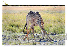Carry-all Pouch featuring the photograph Tough Job by Betty-Anne McDonald