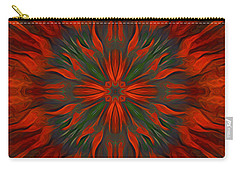 Carry-all Pouch featuring the digital art Tough Red by Giada Rossi