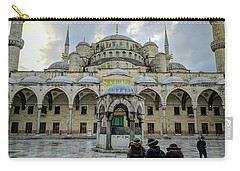 Tourists And The Blue Mosque Carry-all Pouch