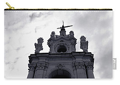 Carry-all Pouch featuring the photograph Tower Against The Clouds by Lorraine Devon Wilke