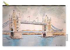Carry-all Pouch featuring the painting Tower Bridge by Marilyn Zalatan