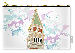 Tower Of Campanile In Venice Carry-all Pouch