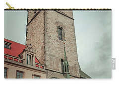 Carry-all Pouch featuring the photograph Tower Of Old Town Hall In Prague by Jenny Rainbow