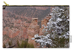 Towers In The Snow Carry-all Pouch by Debby Pueschel
