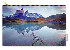 Carry-all Pouch featuring the photograph Towers Of The Andes by Phyllis Peterson