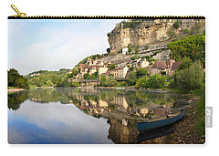 Town Of Beynac-et-cazenac Alongside Dordogne River Carry-all Pouch by IPics Photography