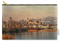 Carry-all Pouch featuring the photograph Town Of Roses by Hanny Heim