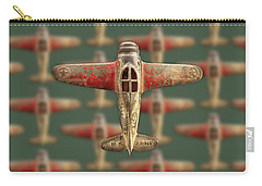 Toy Airplane Scrapper Pattern Carry-all Pouch by YoPedro