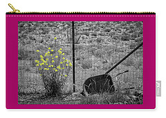 Toy Wheelbarrow And Wild Flowers Carry-all Pouch