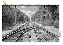 Carry-all Pouch featuring the photograph Tracks 2 by Mike McGlothlen