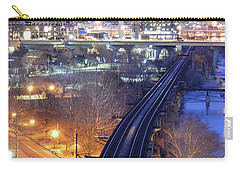 Tracks Into The City Color Carry-all Pouch
