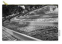 Carry-all Pouch featuring the photograph Tracks Through Historic Buford by Doug Camara