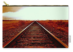 Marfa Texas America Southwest Tracks To California Carry-all Pouch by Michael Hoard
