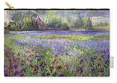 Trackway Past The Iris Field Carry-all Pouch by Timothy Easton