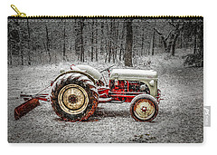 Tractor In The Snow Carry-all Pouch