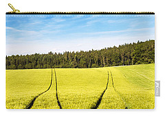 Tractor Tracks In Wheat Field Carry-all Pouch by Carsten Reisinger