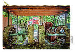 Carry-all Pouch featuring the photograph Tractors Side By Side by Debra and Dave Vanderlaan