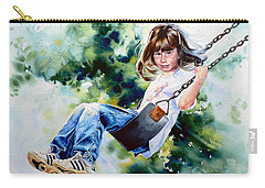 Carry-all Pouch featuring the painting Tracy by Hanne Lore Koehler