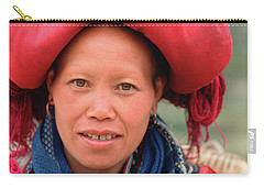 Traditional Fashion Of A Red Dzao Woman Carry-all Pouch