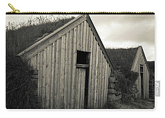 Carry-all Pouch featuring the photograph Traditional Turf Or Sod Barns Iceland by Edward Fielding