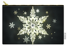 Traditional Sunlight Snowflakes Carry-all Pouch