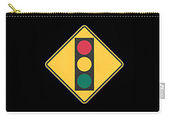 Traffic Light T-shirt Carry-all Pouch by Herb Strobino