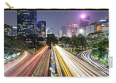 Traffic Night Rush In Jakarta, Indonesia Capital City.  Carry-all Pouch