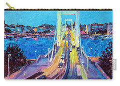 Traffic On Elisabeth Bridge At Dusk Carry-all Pouch