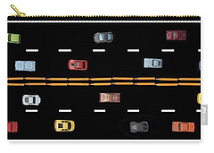 Carry-all Pouch featuring the photograph Traffic - Panorama by Nikolyn McDonald