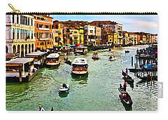 Traghetto, Vaporetto, Gondola  Carry-all Pouch by Tom Cameron